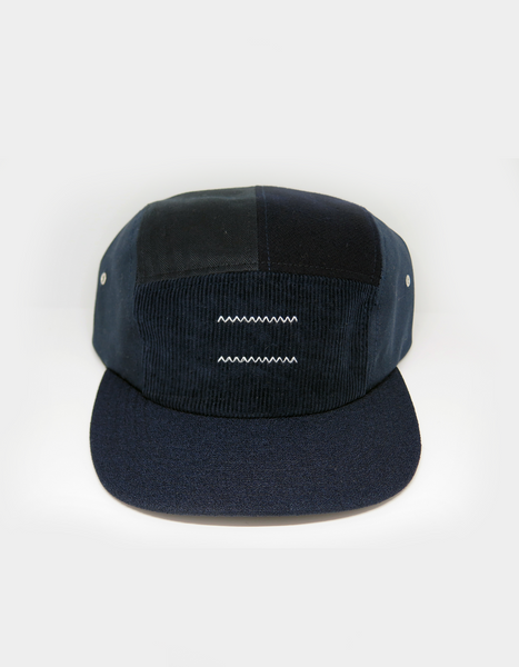 Bangkok: 5 Panel patch work in navy