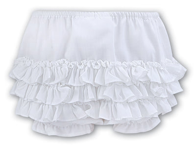 Sarah Louise White Ruffle Panties