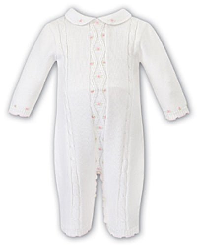 Sarah Louise Baby Girls White All In One  SKU  008087W