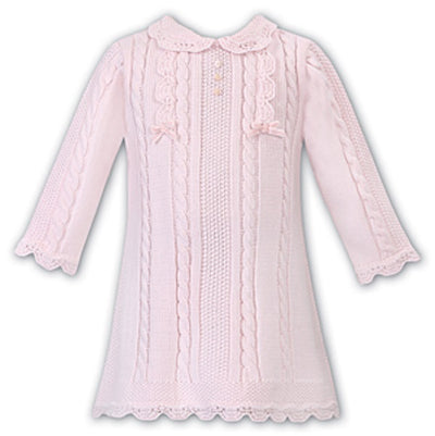 Sarah Louise Girls Pink Knitted Dress