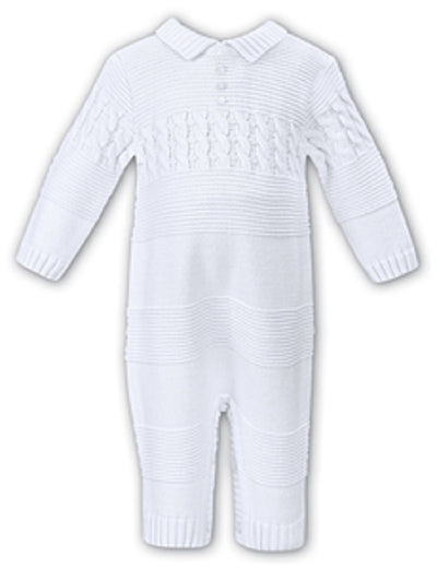 Sarah Louise Unisex White All In One  SKU  008107WH