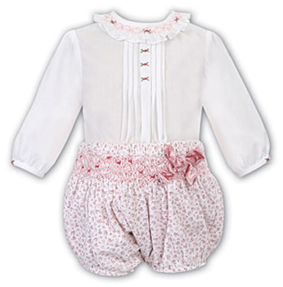 Sarah Louise Baby Girls White & Pink Set SKU  011674