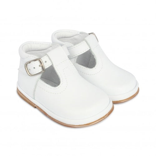 Baby Boys FOFITO White Leather T-Bar Shoe Oren 2112