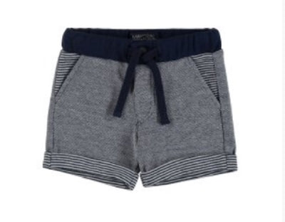 Mayoral Baby Boys Blue Double Sided Granite Shorts SKU 1287-74