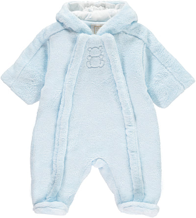 Emile et Rose Blue Fleece Snowsuit SKU 1791pb