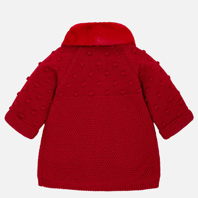 Mayoral Cherry Knit Coat With Hood