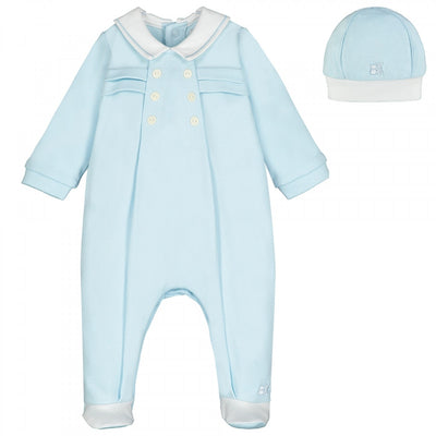 Emile et Rose Seb Boys Babygrow & Hat Set