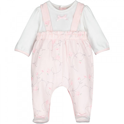 Emile et Rose Baby Girls Floral Baby Grow