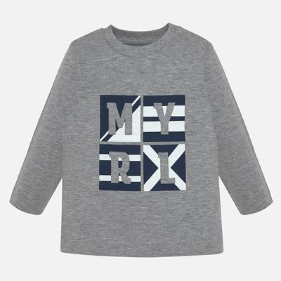 Mayoral Baby Boys Grey & Navy T-shirt