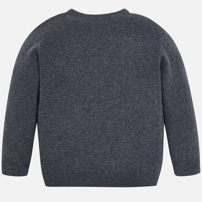 Mayoral Boys Steel Crew Neck Cotton Sweater  SKU 323-71