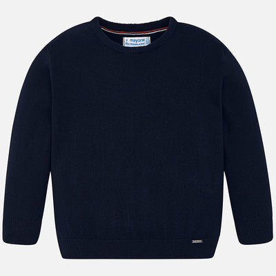 Mayoral Boys Navy Crew Neck Cotton Sweater  SKU 323-73