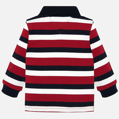 Mayoral Baby Boys Red L/s Polo Shirt  SKU 2105-37