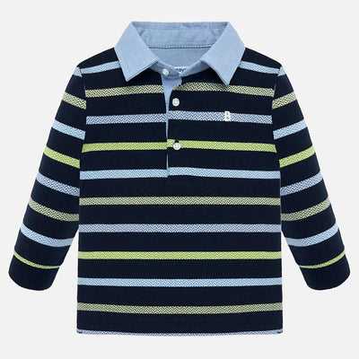 Mayoral Baby Boys Dark Blue L/s Polo Shirt  SKU 2108-57