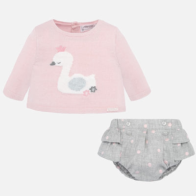 Mayoral Baby Girls Rose Bloomer & Sweater Set