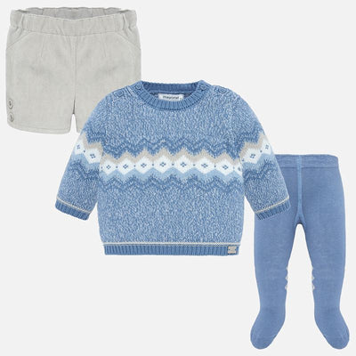 Mayoral Baby Boys Grey Shorts and Tight Set