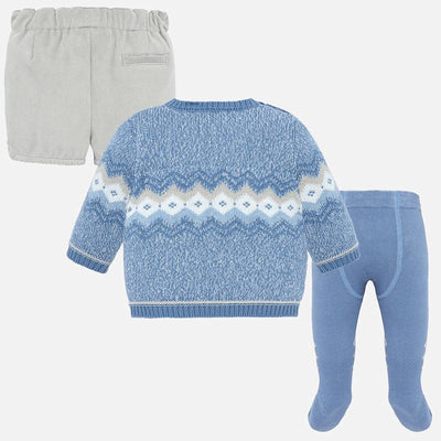 Pre Order Mayoral Baby Boys Grey Shorts and Tight Set  - SKU -2207-77