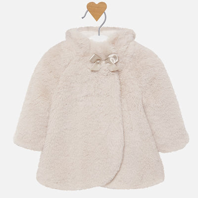 Mayoral Baby Girls Natural Fur Coat