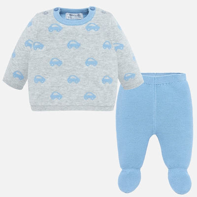 Pre Order Mayoral Baby Boys Cloud Knit Gaiters Set - SKU -2507-16