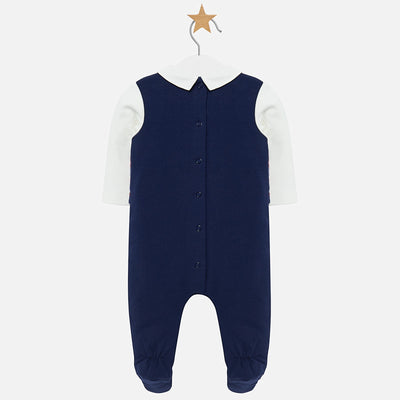 Mayoral Baby Boys Deep Blue Vest Onesie