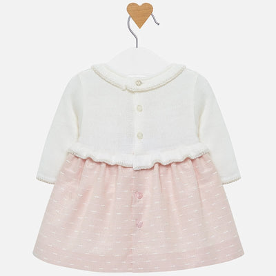 Mayoral Baby Girls Pink & Off White Dress