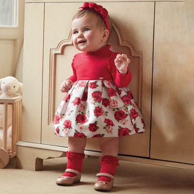 Mayoral Baby Girls Scarlet Combained Dress  SKU 2917-60