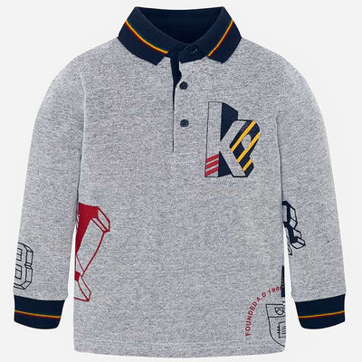 Mayoral Boys Fog L/s Polo Shirt  SKU 4113-41