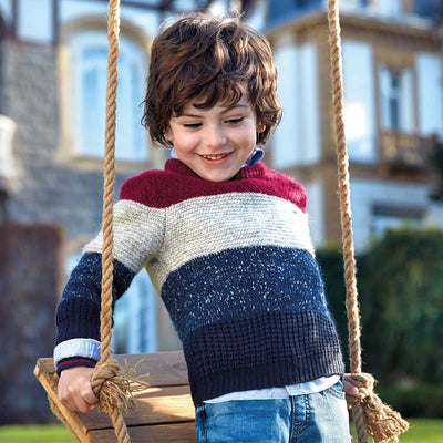 Mayoral Boys Purple Block Sweater  SKU 4314-69