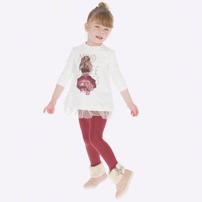Mayoral Girls Ruby Leggings Set  SKU 4707-45