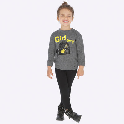 Mayoral Girls Black Embroidered Legging Set  SKU 4715-48