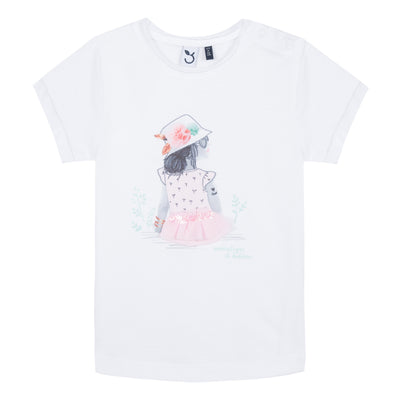 3pommes off white lovely flower T-Shirt - SKU - 3N10012-33