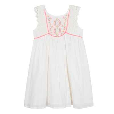 3pommes White Palm Spring Dress - SKU - 3N31084
