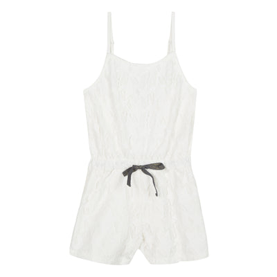 3pommes White Combishort-Playsuit - SKU - 3N33024