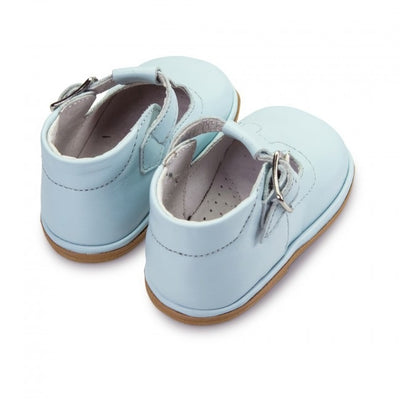 Baby Boys FOFITO Pale Blue Leather T-Bar Shoe Oren 2112