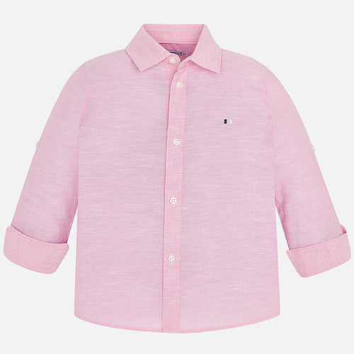 Mayoral Boys Rose Linen long sleeved shirt