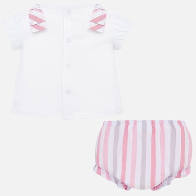Pre Order Mayoral Baby Girls Rose Pink Bloomer set  SKU 1138-69 - S/S20