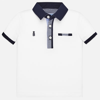 Mayoral Baby Boys White Polo Shirt   SKU 1145-10 - S/S20