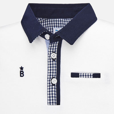 Mayoral Baby Boys White Polo Shirt