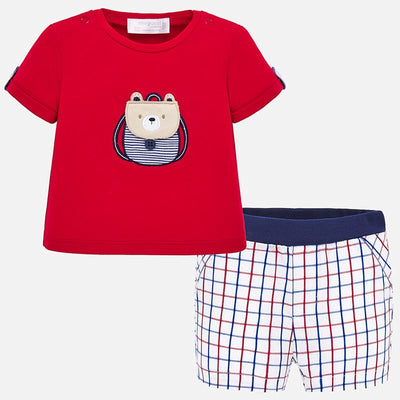 Mayoral Baby Boys Cuore T-shirt and shorts set   SKU 1259-53  - S/S20