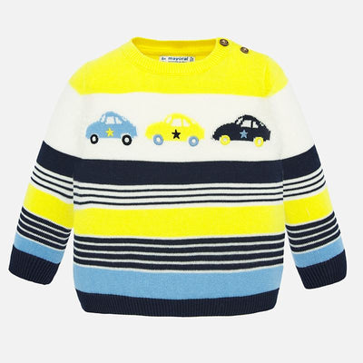 Mayoral Baby Boys Yellow Block Sweater SKU 1322-80 - S/S20