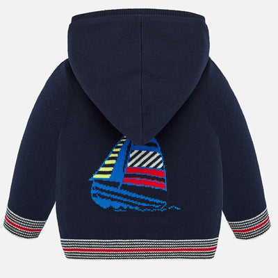 Mayoral Baby Boys Navy Hooded sweatshirt SKU 1325-79 - S/S20
