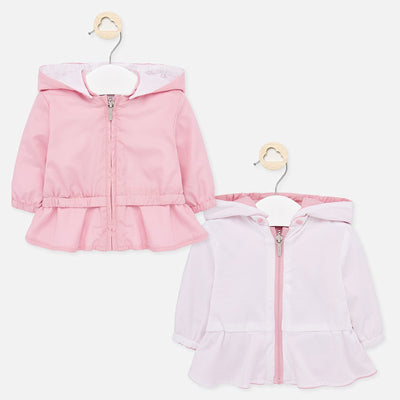 Pre Order Mayoral Baby Girls Blush Reversible windbreaker jacket  SKU 1445-12  - S/S20