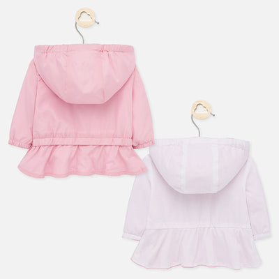 Mayoral Baby Girls Blush Reversible windbreaker jacket