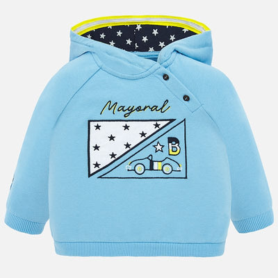 Mayoral Baby Boys Sky Embroidered Hoodie SKU 1452-15 - S/S20