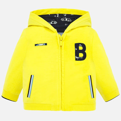 Mayoral Baby Boys Yellow Applique Hoodie SKU 1460-44 - S/S20