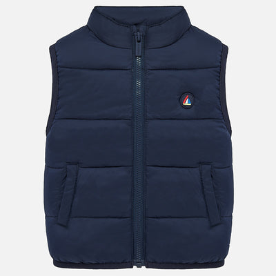 Mayoral Baby Boys Navy Padded gilet   SKU 1466-53- S/S20