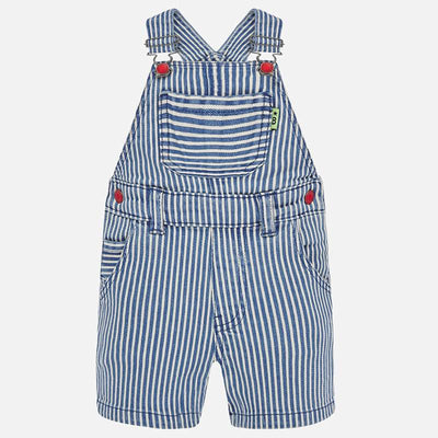 Mayoral Baby Boys Blue Striped short dungarees   SKU 1686-03 - S/S20