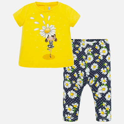 Mayoral Baby Girls T-shirt and patterned leggings set  SKU 1716-13 - S/S20