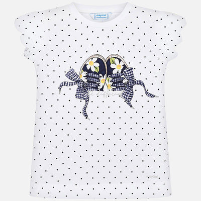 Mayoral Girls Short sleeved t-shirt with trainers print SKU- 3015-53 - S/S2O