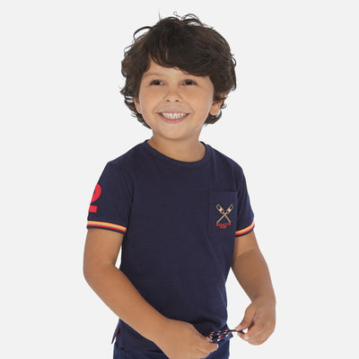Mayoral Boys Short sleeved t-shirt with pocket SKU- 3058-23 - S/S2O