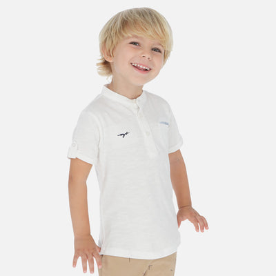 Mayoral Boys Mao Neck Short sleeved plain t-shirt   SKU  3059-83  S/S2O